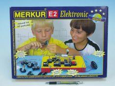 Merkur Stavebnice E2 elektronic v krabici 36x27x6cm
