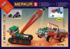 Merkur Stavebnice 8 130 modelů 1405ks 5 vrstev v krabici 54x36,5x8,5cm