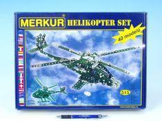 Merkur Stavebnice Helikopter Set 40 modelů 515ks v krabici 36x27x5,5cm