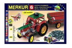 Merkur Stavebnice 6 100 modelů 940ks 4 vrstvy v krabici 54x36x6cm