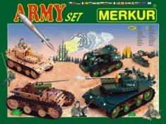 Merkur Stavebnice Army Set 657ks 2 vrstvy v krabici 36x27x5,5cm