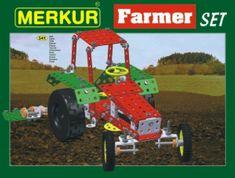 Merkur Stavebnice Farmer Set 20 modelů 341ks v krabici 36x27x5,5cm