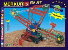 Merkur Stavebnice 5 80 modelů 767ks v krabici 36x27x8cm