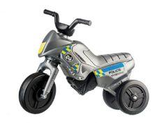 Teddies Odrážedlo Enduro Yupee Policie malé plast výška sedadla 26cm nosnost do 25kg 12m+