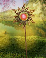PAUL NEUHAUS Leuchten DIRECT Solárne svietidlo so zápichom, slnko, farba hrdze 5000K LD 19775-70