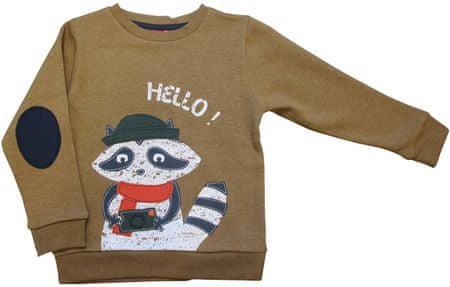 Carodel sweter chłopięcy 92 brązowy
