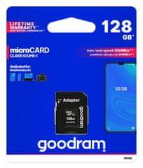 GoodRam memorijska kartica microSD 128GB 100MB/s + SD adapter (500306)
