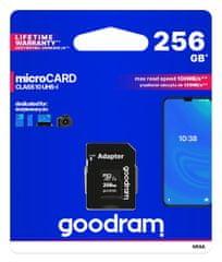 GoodRam memorijska kartica microSD 256GB 100MB/s + SD adapter (500308)