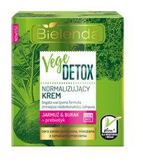 Bielenda VEGE DETOX Červená repa + kapusta + prebiotiká normalizujúci pleťový krém deň/noc 50ml