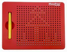 Montessori Magnetická kreslící tabulka Magpad 380 kuliček červená