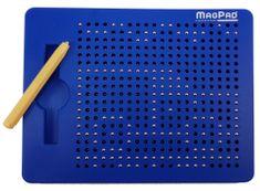Montessori Magnetická kreslící tabulka Magpad 380 kuliček modrá