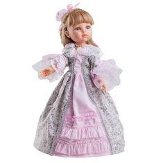 Paola Reina Karla v dobovom ružovom oblečení 32cm