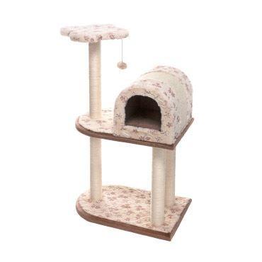 IMAC plišasto praskalo za mačke, z razgledno ploščadjo in hišico