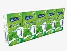 Moracell Big Soft papírové kapesníčky Mentol, 3 vsrtvy