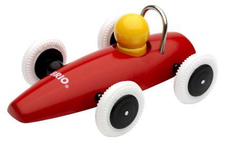 Brio autko wyścigowe, czerwone