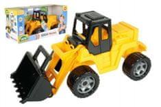 LENA Nakladač žlutočerný Giga Trucks plast 62cm v krabici 70x35x29cm