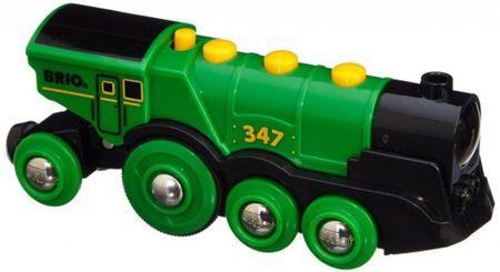 Brio mogočna zelena lokomotiva