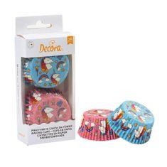 Decora Košíčky na muffiny 36ks jednorožec modro růžové