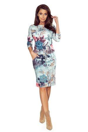 Numoco Sukienka damska 13-115 + Skarpetki Gatta Calzino Strech, wielo barwny, S