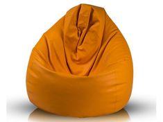 Vipera Sedací vak Nina XXL ekokoža oranžová - ekokoža oranžová