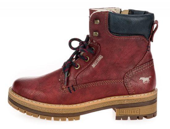 Mustang dámska členková obuv 1344603-1 38 červená