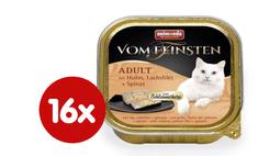 Animonda V.Feinsten CORE - csirke, lazac filé + spenót macskáknak 16 x 100g
