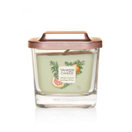 Yankee Candle Aromatična sveča majhen kvadrat Holiday Garland 96 g