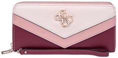 Guess Dámska peňaženka Kamryn SLG Large Zip Around Merlot Multi