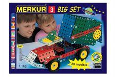 Merkur Stavebnice 3 30 modelů 307ks v krabici 36x26,5x5,5cm