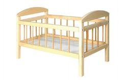 Teddies Postýlka pro panenky dřevo velká 58,5x33x37,5 cm v sáčku
