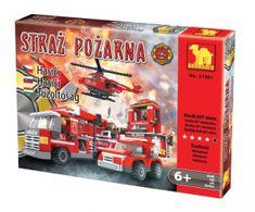 Dromader Stavebnice Hasiči Auto+Vrtulník+Stanice 21901 697ks v krabici 49x38x7cm
