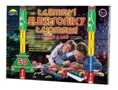 Dromader Tajomstvo elektroniky - Auto, loď 50 experimentov na batérie v krabici 46,5x33,5x4cm od 6 rokov
