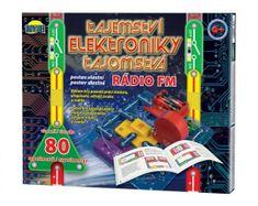 Dromader Tajomstvo elektroniky - Rádio 80 experimentov na batérie v krabici 30x24,5x3,5cm od 6 rokov