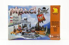 Dromader Stavebnice Piráti 27502 238ks v krabici 32x21,5x5cm