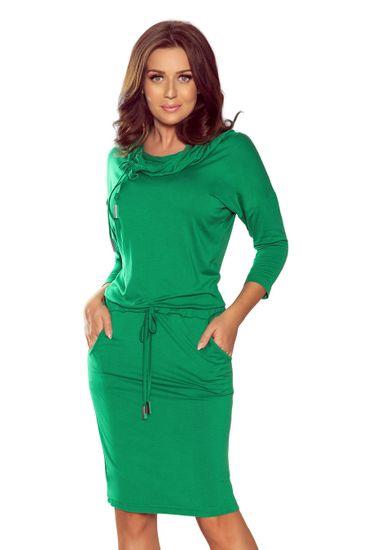 Numoco Dámské šaty 44-21 zelená L