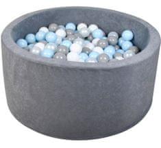 iMex Toys 2839 Suchý bazén s míčky šedý