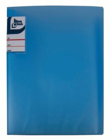 Blue Link Transparent katalog mapa, 60 listov, A4, modra (02228)