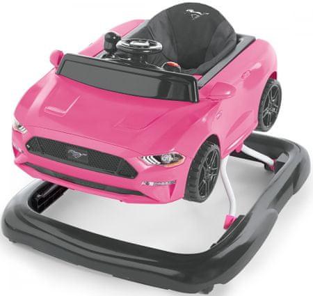 Bright Starts Ford Mustang Pink 3az1-ben bébikomp, 6 hó+, 11 kg-ig