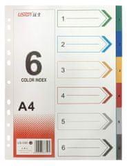 Blue Link listi, pregradni, plastificirani, 6 barv (26535)