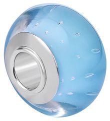Infinity Love Jasnoniebieski szklany koralik HGS-834 srebro 925/1000