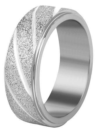 Troli Jekleni poročni prstan srebrn / svetleč (Obseg 62 mm)