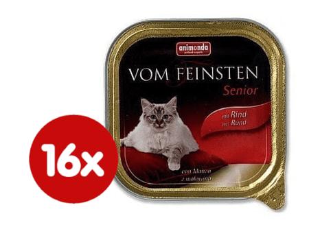 Animonda mokra karma dla kota Vom Feinstein Cat Senior - wołowina - 16x100g