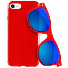 Puro Kryt PURO pro iPhone 7/8 červený + DÁREK Slunenčí brýle