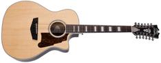 D'Angelico Premier Fulton Natural Dvanáctistrunná elektroakustická kytara