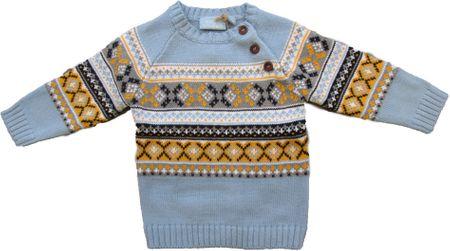 Carodel fiú pulóver, 68, világoskék