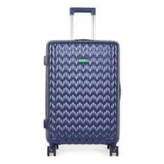 Benetton Skořepinový cestovní kufr KNIT Medium 60 l