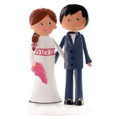 Dekora Postavička na svatební dort želežná 18cm
