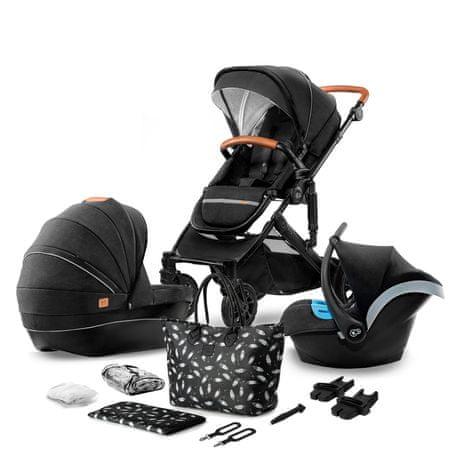 KinderKraft otroški voziček PRIME 3in1 2020 black, črn - Odprta embalaža