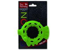 Plaček Hračka DOG FANTASY silikonový kroužek světle zelený 10 cm