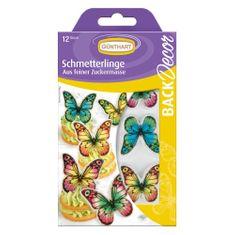 Cukrová dekorace motýlci 12ks